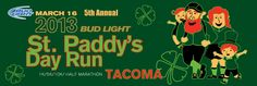 March 16th, St. Paddy's Day Half Marathon, Tacoma WA. MEDAL