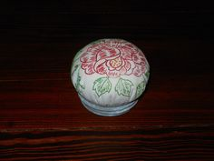 Vintage Embroidered Pincushion in Old Zinc by HomesteadGatherings, $10.00