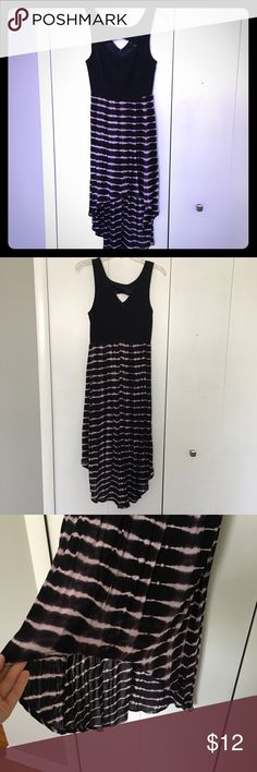 High Low Tie Dye Dress High low dress from Forever 21. Worn once and in excellent condition. Opening at neckline and flowy tie dye skirt. Zipper up back. Forever 21 Dresses High Low