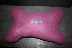 Embroidered Dog Bone Pillow by Gammysshop on Etsy