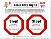Free on Corkboard Connections: Stop Team Disruptions with these team stop signs. Use them to manage behavior during cooperative learning activities.