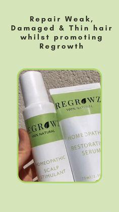 Natural Hair Growth, Natural Hair Styles, Hair Serum, Hair Regrowth, Hair Hacks, Natural Remedies, Personal Care, Beauty, Self Care