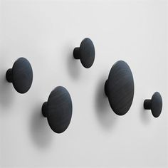 Dots coat hooks - 5 pack - black stained ash - Muuto