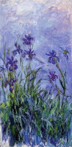 Lilac Irises ~Claude Monet