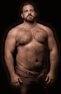 Bearded homosexual with good body sucks and bottoms
