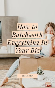 Have you thought about how to batchwork, but you're just not sure how to get started? Learn this popular productivity back using my 5 simple steps to batchwork anything in your business. Business Advice, Business Planning, Online Business, Business Coaching, Business Education, Time Management Tips, Business Management, Project Management, Online Entrepreneur