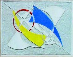 Jean GORIN (1899-1981) Construction géométrique, 1939 Gravure sur lino (inscription au crayon au dos) rehaussée de peinture vinyle Dans un bel encadrement. 17 x 24,5 cm (la vue) Bibliographie : « L'?uvre de Jean Gorin », Marianne Le Pomméré, page 26, 1939, expériences avec Pevsner Provenance : famille de l'artiste Succession Suzanne Gorin