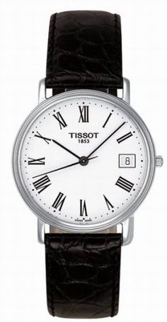 Tissot Watch, Mens Black Leather Strap - All Watches - Jewelry & Watches - Macys Tissot Mens Watch, Dream Watches, Luxury Watches, White Quartz, Watches For Men, Men's Watches, Black Watches, Jewelry Watches, Black Leather