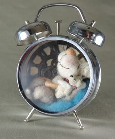 Needle felted mouse 5 tall Sleeping mouse Time by Edenandfriends