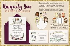 The Uniquely You Wedding Collection by Knotted Design on Creative Market