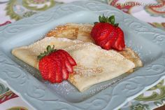 Tutorial: Crepes {& Smith Family Thin Cakes} - Our Best Bites (make ahead, freeze, then thaw/microwave in am) Gourmet Breakfast, Delicious Breakfast Recipes, Dessert Recipes, Yummy Food, Breakfast Ideas, Breakfast Spinach, Breakfast Crepes, Morning Breakfast, Breakfast Dishes