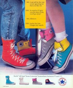 Converse ad from 1987.