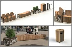 The Natural Elements range is a modular, coordinated range, inspired by biophilic design and elements from the natural environment.  #UrbanDesign #StreetFurniture  .
