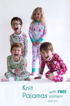 DIY Christmas Pajamas - Sew pajamas with this FREE pattern - Melly Sews