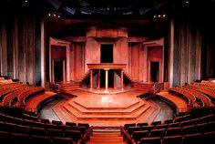 Thrust stage at the Shakespeare Festival Theatre, Stratford, Ontario Stage Set Design, Set Design Theatre, Conception Scénique, Stratford Shakespeare, Greek Plays, Bühnen Design, Interior Design, Stratford Ontario, Theatre Architecture