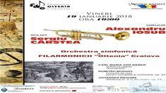 """Orchestra Simfonică a Filarmonicii """"Oltenia"""" Craiova, dirijată de maestrul Alexandru Iosub, prezintă în primă audiţie vineri, 19 ianuarie 2018, ora 19:00, un concert de jazz în interpretarea trompetistului Sergiu Cârstea. Acumulând o vastă experienţă ce numără sute de spectacole de operă şi operetă, zeci şi zeci de concerte dirijate la Craiova şi în alte centre ..."""