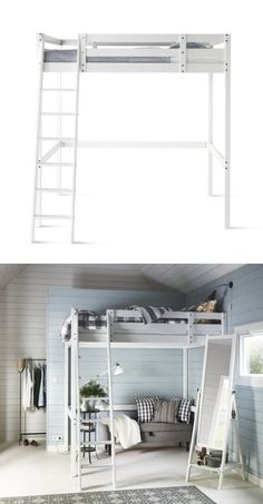 Trendy Bedroom Ideas For Small Rooms White Extra Storage 29 Ideas. Trendy Bedroom Ideas For Small Rooms White Extra Storage 29 Ideas Small Room Bedroom, Bedroom Loft, Trendy Bedroom, Bedroom Storage, Bedroom Apartment, Apartment Living, Diy Bedroom, Bed Storage, Bedroom Ideas
