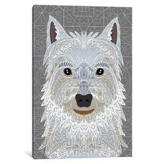 "East Urban Home Westie Graphic Art on Wrapped Canvas Size: 26"" H x 18"" W x 1.5"" D"