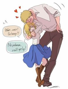 perfect for each other uh - ReiKuri / Christa Lenz / Reiner Braun / Attack on Titan // All rights to the owners Attack On Titan Comic, Attack On Titan Ships, Attack On Titan Fanart, Christa Renz, Historia Reiss, Aot Characters, Titans Anime, Cute Anime Couples, Anime Demon