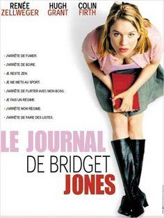 Le journal de Bridget Jones [Bridget Jones's Diary] de Sharon Maguire. A l'aube de sa 32ème année, Bridget Jones, employée dans une agence publicitaire à Londres, décide de reprendre sa vie en main. Pour ce faire, elle dresse une liste de bonnes résolutions : La 1re : tenir un journal intime. La 2ème : trouver un petit ami, voire même l'homme idéal. Pourquoi ne pas s'habiller sexy pour se faire remarquer par Daniel Cleaver, son patron ? Et pas question de sortir avec l'insupportable Mark…