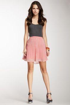 Zigzag Print Skirt
