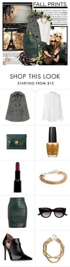 """""""...brace yourselves, autumn is coming!"""" by jelenapetrosanec ❤ liked on Polyvore featuring Dorothy Perkins, T By Alexander Wang, CO, OPI, Armani Privé, ASOS, Witchery and Valentino"""