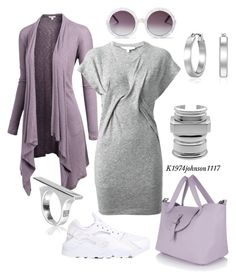 """Lavender & Gray"" by k1974johnson1117 ❤ liked on Polyvore"