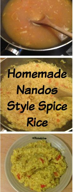 Homemade Nandos style spicy rice