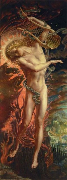 Jean Delville - Orpheus in the Underworld (late 19th century)