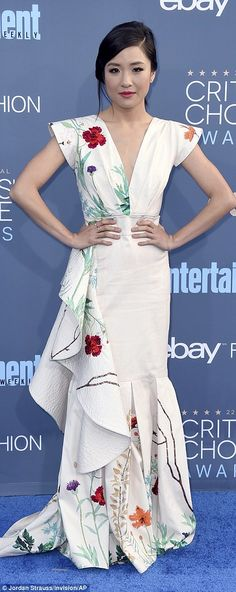Got the memo: Gillian Jacobs and Constance Wu were on the same page with their floral motif white dresses