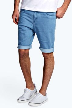 Shake up your bottoms in a pair of bold shorts from boohooMAN. Show your preppy side in primary colour chino shorts (perfect for pairing with a check shirt ); or do distressed daywear in denim shorts and a basic tee. Jogger shorts are your year-round loungewear saviour for styling with a hoodie on those lazy days.