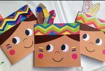 Make your own birthday cards for little kids święto dziękczynienia, rzemios Kids Crafts, Fall Crafts, Holiday Crafts, Diy And Crafts, Paper Crafts, Thanksgiving Preschool, Thanksgiving Art, Anniversaire Cow-boy, Indian Crafts