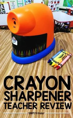 Check out this fun crayon sharpener!  It takes a dull crayon and makes it fresh and new!  Crayon Sharpener Review from Simply Kinder. #teachertips