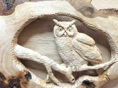 Owl Wood Carving Hand Carved Wall Art Sculpture от JoshCarteArt