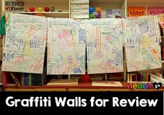 Graffiti Walls a great formative and summative activity that brings creativity into the classroom. 6th Grade Social Studies, 6th Grade Ela, 5th Grade Classroom, 5th Grade Reading, Teaching Social Studies, School Classroom, Classroom Activities, Classroom Organization, Classroom Ideas
