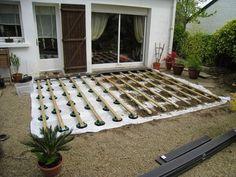 Attractive Tutoriel Expliquant Comment Poser Une Terrasse En Bois Composite Sur  Lambourde Et Plots Réglables (lames