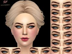 The Sims Resource: CAT eyesliner by foufouchouchou • Sims 4 Downloads