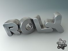 3D Text - By RRS GFX (on Flickr) - #3D, #typography