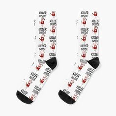'Killer Inside - Bloody Imprint' Socks by RIVEofficial Custom Design, Finding Yourself, Socks, Trends, Stuff To Buy, Accessories, Shopping, Art, Style