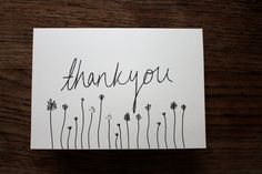 Thank You cards Hand drawn A6 set of 5 by LuciesLittleCrafts, £6.00