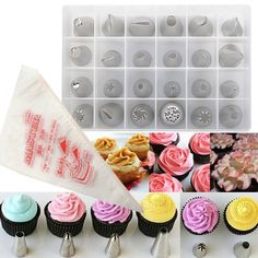 56pcs Russian Tulip Icing Piping Nozzles DIY Cake Decoration Dessert Baking Stainless Steel Tools Cheap - NewChic Mobile.