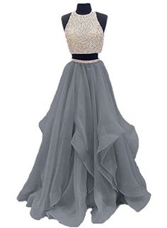 Find Dressytailor Two Piece Floor Length Organza Prom Dress Beaded Evening Gown online. Shop the latest collection of Dressytailor Two Piece Floor Length Organza Prom Dress Beaded Evening Gown from the popular stores - all in one Pretty Prom Dresses, Prom Dresses Two Piece, Hoco Dresses, Pageant Dresses, Ball Dresses, Homecoming Dresses, Formal Dresses, Prom Gowns, Quinceanera Dresses