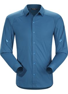 Elaho Shirt LS Men's Light, hardwearing snap front Alatorre™ hiking and trekking shirt created for extended backcountry travel in hot weather.