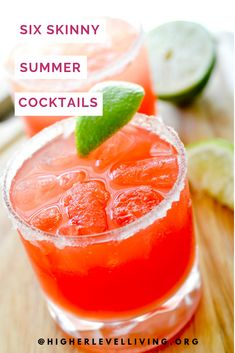 Summery Watermelon Margarita + 7 other low-cal, guilt-free cocktails. Low Calorie Cocktails, Healthy Cocktails, Cocktail Recipes Aperol, Watermelon Margarita, Frozen Watermelon, Skinny Margarita, Watermelon Mint, Margarita Drink, Margarita Recipes