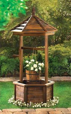 Buy Rustic Wishing Well Planter at wholesale prices. We offer a large selection of cheap Wholesale Garden Planters. If you need Rustic Wishing Well Planter in bulk at a discount price then buy from WholesaleMart. Diy Garden, Garden Planters, Garden Art, Garden Pool, Porch Garden, Potager Garden, Night Garden, Backyard Garden Design, Wood Planters