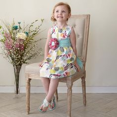 Swoon! Love this Girls Multi Color Floral Ava Dress I discovered at lollywollydoodle.com and for only $38! Click the image above to get a $5 off coupon code for your next order!
