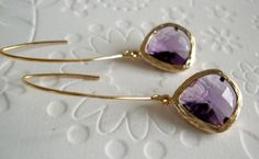 Drop earrings Wedding jewelry  Modern amethyst by 2010louisek7, $30.00