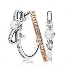 a1256c9fc Pandora Crossover Ring Stack | Pandora Addict | Crossover ring ...