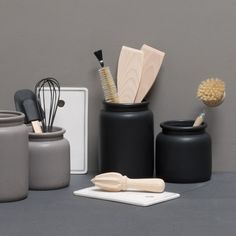 """Display your kitchen utensils in tasteful jars of various heights,"" Anna suggests. Prices from DKK 24,40 / ISK 648 / SEK 33,90 / NOK 34,90 / EUR 3,44 / GBP 3,33"