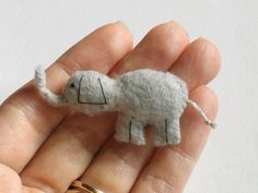 Felt elephant hand stiched (wishwithme)
